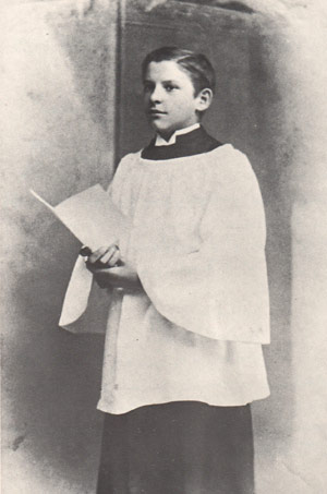 Wallace Stevens as a choir boy, 1893.